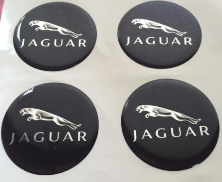 Jaguar ★4 Stück 60mm Aufkleber Emblem für Felgen Nabendeckel Radkappen