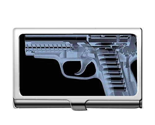 Estuche para tarjetas de crédito/identificación de negocios profesionales, titular de la tarjeta de acero inoxidable para rayos X de pistola