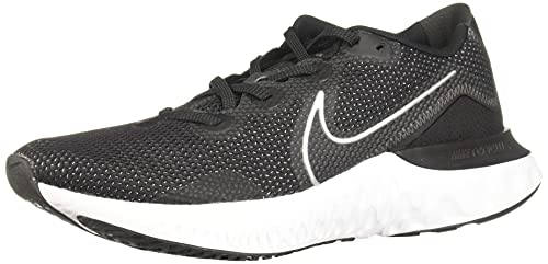 Nike - Tênis de corrida masculino, Black/Metallic Silver/White, 7.5