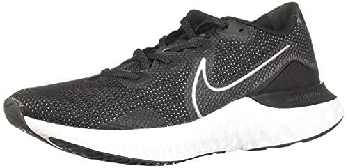 Nike Renew Run Mens Running Trainers CK6357 Sneakers Shoes (UK 7 US 8 EU 41, Black Metallic Silver White 002)