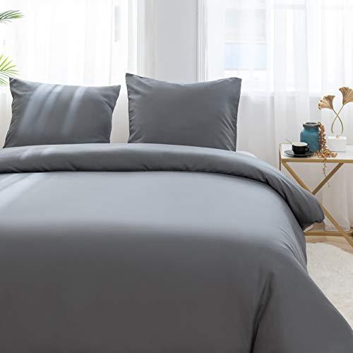 AYSW Sets de Housse de Couettes 200x200cm + 2taies d'oreillers 65x65cm Parure de lit pour 2...