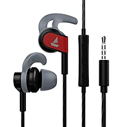 boAt Bassheads 242 Wired Sports Earphones with HD Sound, 10 mm Dynamic Drivers, IPX 4 Sweat and Water Resistance, Superior Coated Cable & in-Line Mic (Active Black),boAt,Bassheads 242 Black,Boat earphone,Boat earphones with mic,Boat earphones with microphone,ear phone,ear phones Boat,earphone with mic,earphone with microphone,earphones,earphones for mobiles,headset,headsets with mic