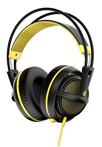 SteelSeries Siberia 200 - Auriculares para Juego, micrófono retráctil, gestión de Software, (PC/Mac/Playstation/Móvil), Color Amarillo protón