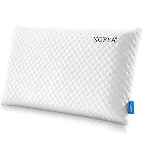 NOFFA - Almohada de Espuma para el Cuello con Funda Transpirable y Lavable, tamaño Queen (70 x 38 cm)