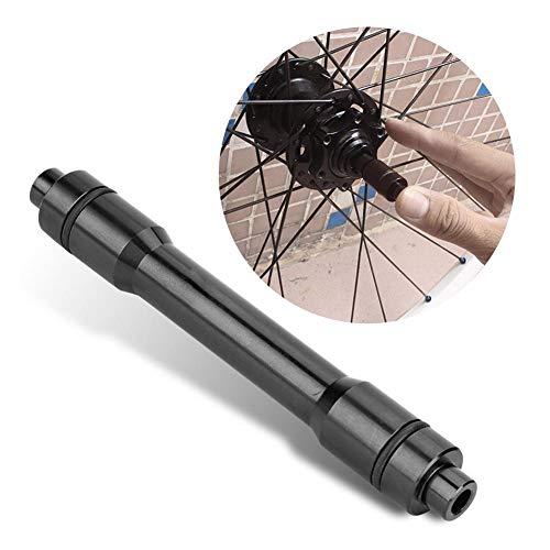 Dilwe Fahrrad Quick Release Hub, Aluminiumlegierung Steckachse Adapter 15mm bis 12mm Schnellspanner Bike Spieß Adapter für Rennrad Mountainbike (Schwarz)