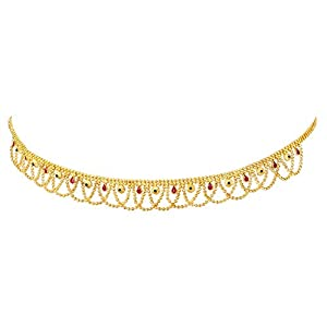 Peora Gold Plated Kundan Pearl Kamar Band Kamar Patta Belly Waist Chain Women Girls Jewellery Indian Traditional Ethnic Wedding