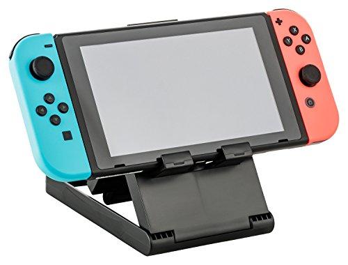 Estación de acoplamiento Gaminger Nintendo Switch Stand PlayStand con varios ángulos y ranuras de ventilación, plegable para facilitar el transporte, color negro