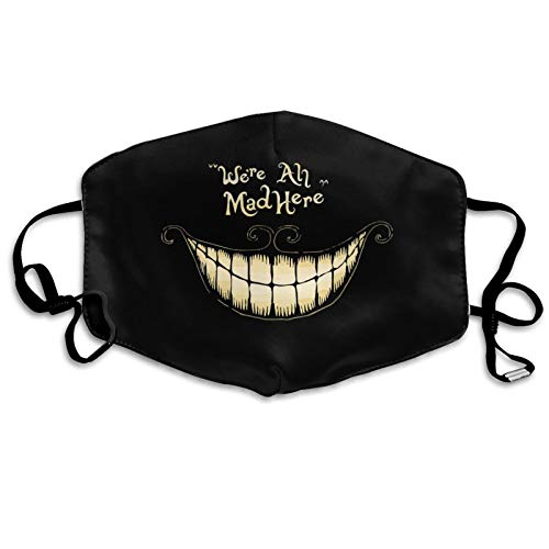 Funny Cheshire Cat Face C_over Reusable Washable Face Madk Skull Holiday Mouth Protection for Women Man Kids Valentines Day Decor