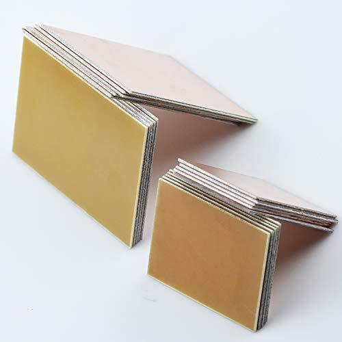 20 Stk Kupferbeschichtet PCB Leiterplatte Doppelseitiges Kupfer Plattiert und Einzelne Seiten Plate Platine Glasfaser 1,5 mm Dicke für Industrielles Lötmittel Wartung DIY