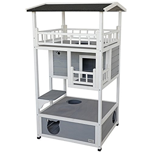Petsfit Cat House for Outdoor/Indoor Cats, Kitten Playhouse Condo for Catio with Enclosure and...