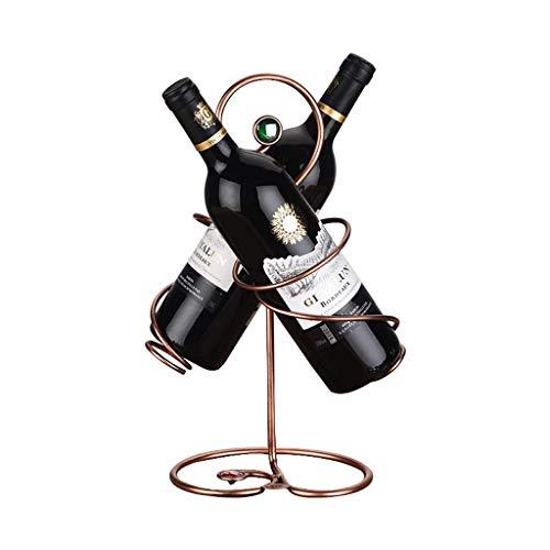 POETRY Estante de Vino Estante de Vino Creativo de Acero Inoxidable 2 Botellas de Joyas Estante de Botellas de Vino Europeo Sala de Estar Gabinete de Vino Hogar Hogar Vino de champán