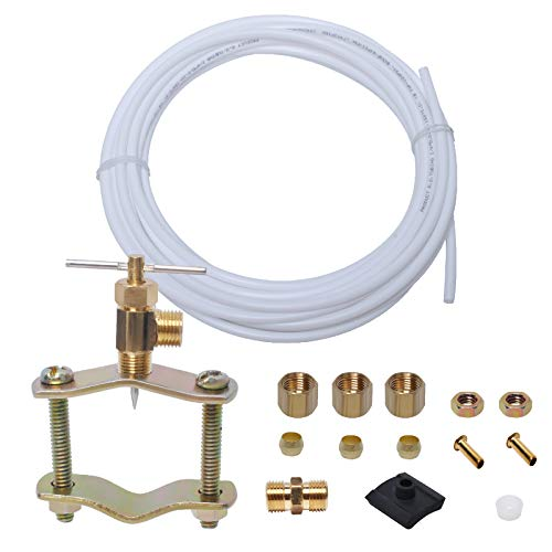 """Podoy Ice Maker And Humidifier Installation Kit, 1/4"""" Compression Fittings,25 FT Poly Tubing,Water Line Connector for Refrigerator and Potable Drinking Water"""