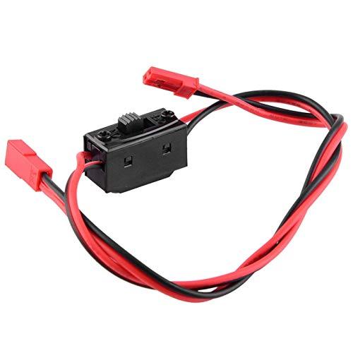 LIZONGFQ Accesorio RC Materiales Superiores Control de luz Interruptor de Encendido ESC Interruptor de Encendido con Enchufe T para Modelo RC Coche / Barco / Avión
