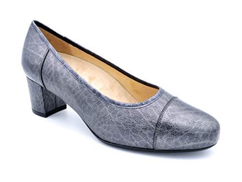 Zapato Vestir Salon para Plantillas Drucker M-silvio 54 Grafito - Grafito, 37