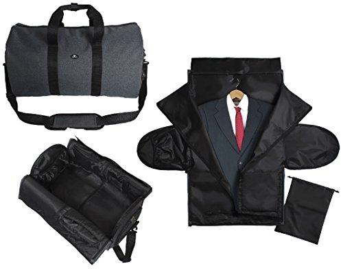 """Case4Life 2-in-1 Reisetasche Duffel Handgepäck Kabinengepäck Flugtasche + 39"""" Reise Passen Abdeckung Kleidungsstück Koffer inc Separate Schuh- / Boottasche"""