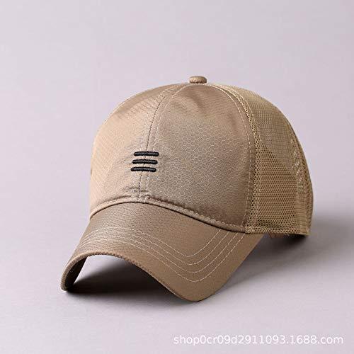 wopiaol Herren Sommer dünne atmungsaktive Mesh Baseballmütze großen Kopf Umfang schnell trocknende koreanische Version der Peaked Cap Outdoor Sonnenhut