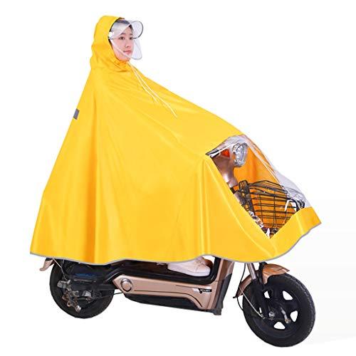 QIYUEYU Ciclismo Impermeabile, Poncho per Bicicletta Cappotto Antipioggia Antivento con Cappuccio Copertura per Scooter Mobility Tenda da Campeggio Esterna Tappetino con Cappuccio Trasparente