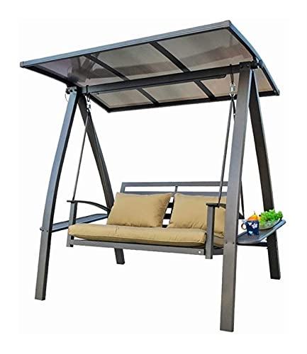 Glider de swing grande al aire libre con soporte, Swing de porche con soporte exterior Muebles Silla de columpio al aire libre, fuente de energía solar impermeable engrosamiento de la silla mecedora d