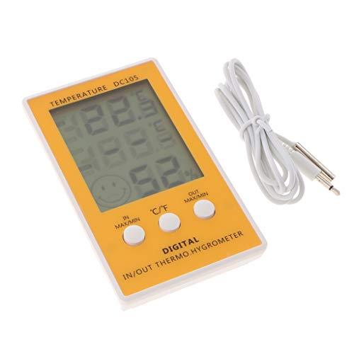 F Fityle Termómetro Reloj Higrómetro LCD Digital