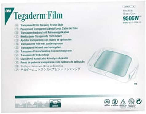3M Tegaderm Dressing Transparent 4 X 4.75 Max 90% OFF Cheap super special price by Pac In 10 each