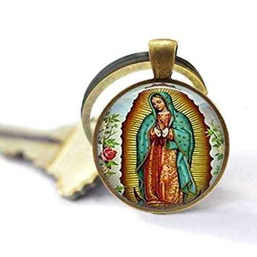 Llavero con diseño de Virgen María