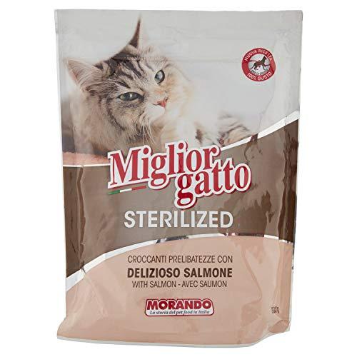 MigliorGatto Sterilized Croccantini salmone delizioso multipack 1 Pacco da 800 gr