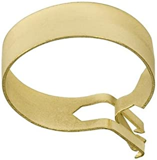 Graber 3/4-Inch Round Cafe Curtain Clips, Brass - 14 Clips per Package