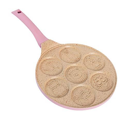 Multi-Functie Ontbijt Koekenpan, Platte bodem Koekenpan, Anti-aanbak, Ei Dumpling Pot, Ontbijt, Baby Omelet Mold Modern design size Animalpink
