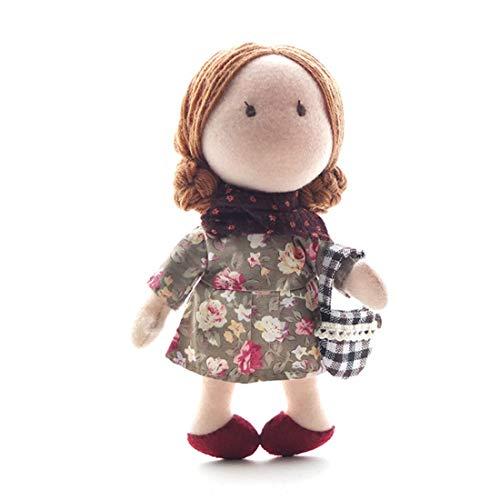 Kepae Puppe Bastelsets, DIY Handwerk Stoffpuppe Nähset Nähspielzeug und Stickerei Kreatives Geschenk für Erwachsene Kinder Anfänger