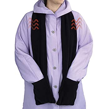 Bits and Pieces - Micro Fleece Battery-Operated Heated Scarf - 66  Long Neckwear with Pockets