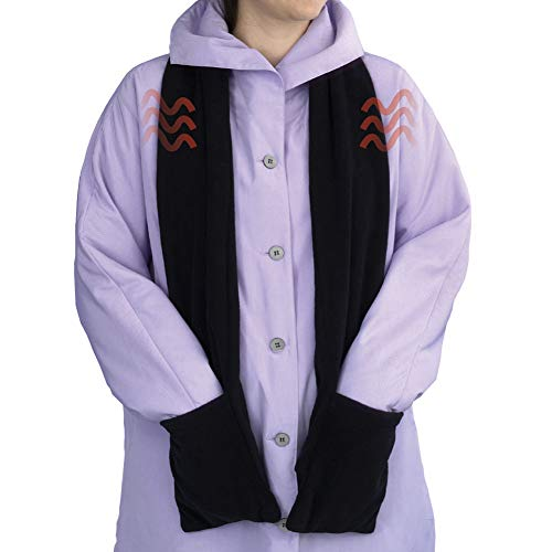 Bits and Pieces - Micro Fleece Battery-Operated Heated Scarf - 66' Long Neckwear with Pockets