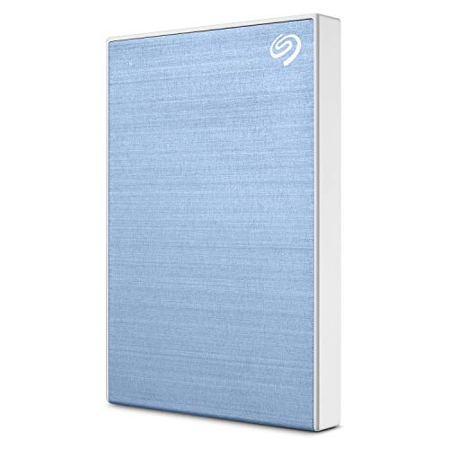 Seagate Backup Plus Slim 2TB External Hard Drive Portable HDD – Light Blue USB 3.0 for PC Laptop and Mac, 1 year Mylio Create, 2 Months Adobe CC Photography (STHN2000402)