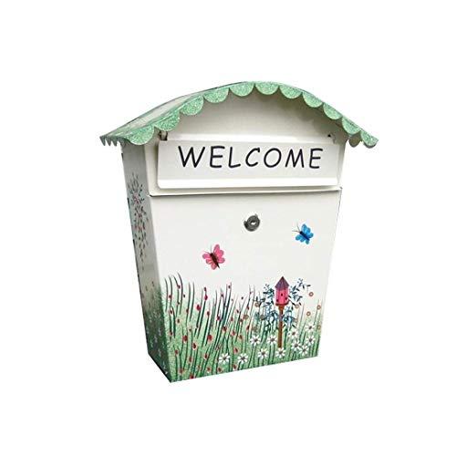 Wandbriefkasten Bürobedarf dekorativ bemalt Briefkasten kreativ Briefkasten Wandmontage Regenwasser Inbox Wasserdicht Briefkasten Postkasten Mailbox kyman