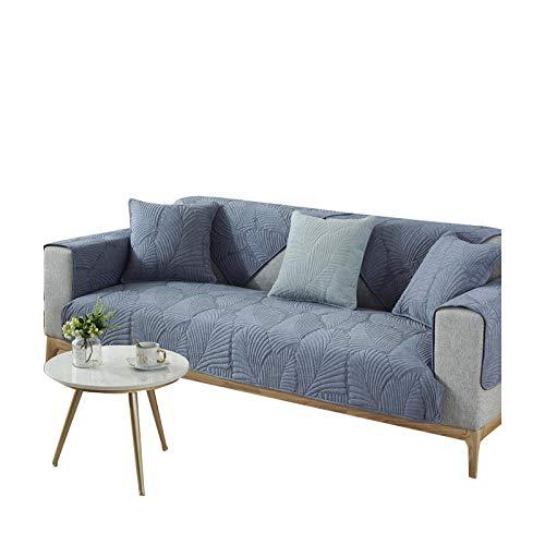 Modern enfärgad tjock bomull universellt sofföverdrag för vardagsrum soffa handduk glidbeständigt sofföverdrag stretch soffa möbelöverdrag - mörkgrå - 70 x 180 cm 27 x 70 tum