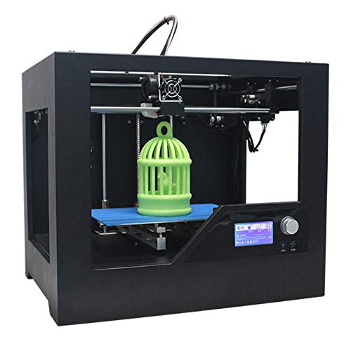 PAN-3D Printer Z-603S 3D Desktop High Precision Metal Frame Three-Dimensional Physical Printer, Recommended use 1.75mm printing supplies(Black)