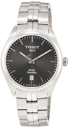 TISSOT Herren Analog Quarz Uhr mit Titan Armband T1014104406100