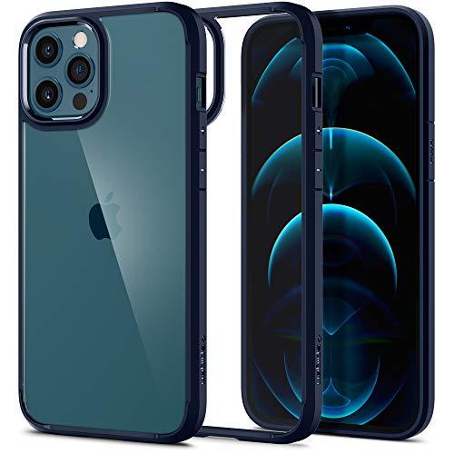 Spigen Funda Ultra Hybrid Compatible con iPhone 12 Pro MAX - Azul Marino