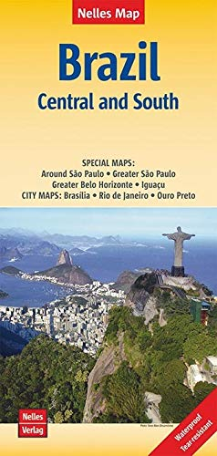 Brazil: Central and South: Nelles Map 1:1 250 000 (Nelles Map / Strassenkarte)