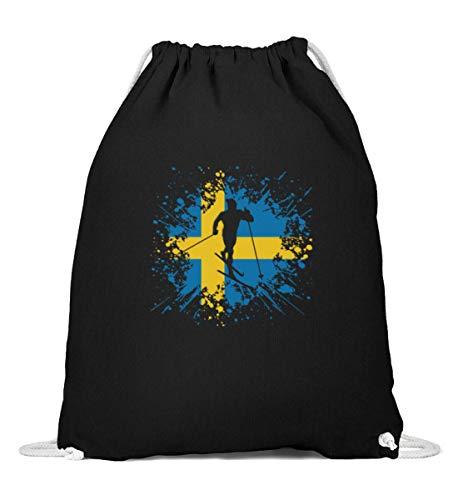 Bolsa de deporte de Suecia   regalo para los amantes de los deportes de invierno, Mujer, 0, Negro , 37cm-46cm