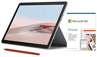 "Microsoft Surface Go 2 10.5"" Intel Pentium Gold 8GB RAM 128GB SSD Platinum + Surface Pen Poppy Red + Microsoft 365 Persona..."