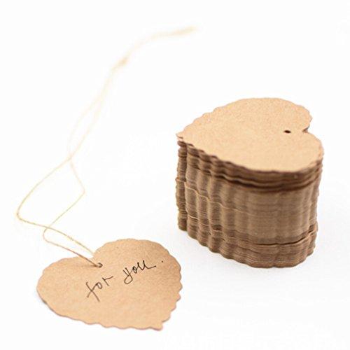 Yinew Etiqueta para equipaje, manualidades de papel, bricolaje, para viajes, mensaje, regalo,...