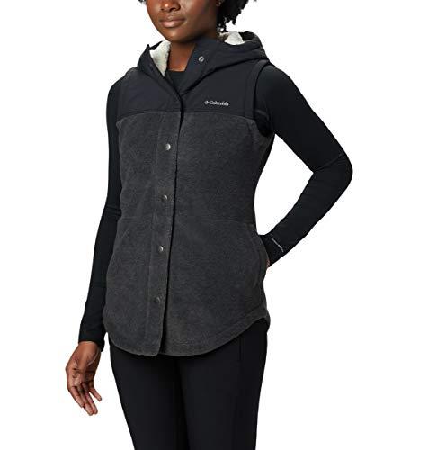 Columbia Women's Benton Springs Overlay Vest, Charcoal Heather/Shark, XX-Large