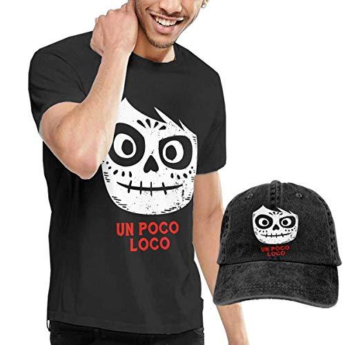 SOTTK Kurzarmshirt Herren, Poco Loco Coco Men's Comfortable T-Shirts Caps Combination Black