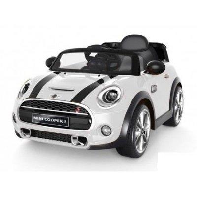 Auto elettrica 12V per bambini Mini Cooper COLORE BIANCO con radiocomando parentale, luci e suoni, mp3