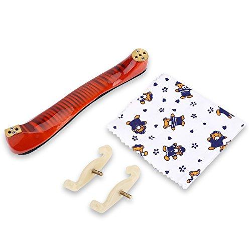 HaiQianXin esdoorn houten schouder rust met spons oppervlak voor 3/4 4/4 viool muziekinstrument accessoires