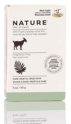 Nature by Canus Pure Vegetal Base Soap With Fresh Canadian Goat Milk, Fragrance-free, 5 Ounce, 24 Count Canus Goats Milk Moisturizing