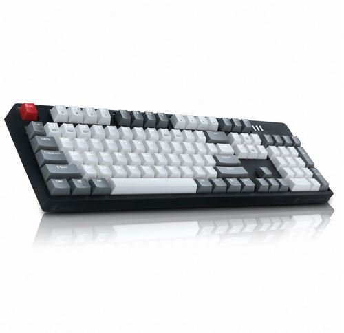 ABKO Hacker K662 (V2 Click) Kailh Non-Contact Light Strike Optical Switch Gaming Keyboard, Water Proof, Urban Grey Color Keycap (English/Korean Layout)