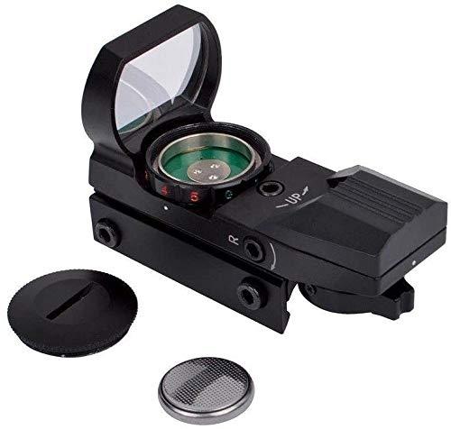 Taktisch Red Dot Visier, mit 20mm/22mm Schiene Leuchtpunktvisier Rotpunktvisier mit 4 Reticles Zielfernrohr Reflexvisier für Jagd Softair Pistole und Armbrust