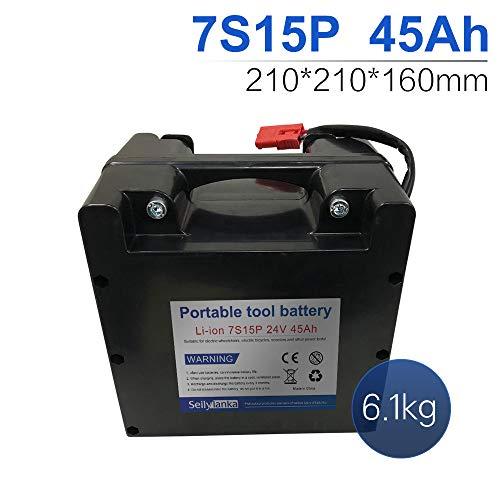 24V Li-ion batería dedicada a sillas de ruedas eléctricas Batería de plomo-ácido reemplazable 12Ah 15Ah 18Ah 24Ah 27Ah 30Ah 33Ah 36Ah 39Ah 42Ah 45Ah 48Ah 51Ah 54Ah 57Ah 60Ah (B-45Ah)