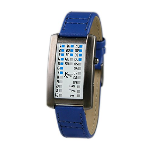 Xtress Reloj Binario para Hombre de Cuarzo con Correa en Cuero XDA1030A